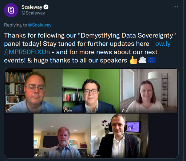 Recently I participated in a very useful panel that aimed to demystify European digital sovereignty.  Even though we spoke for more than an hour (vide