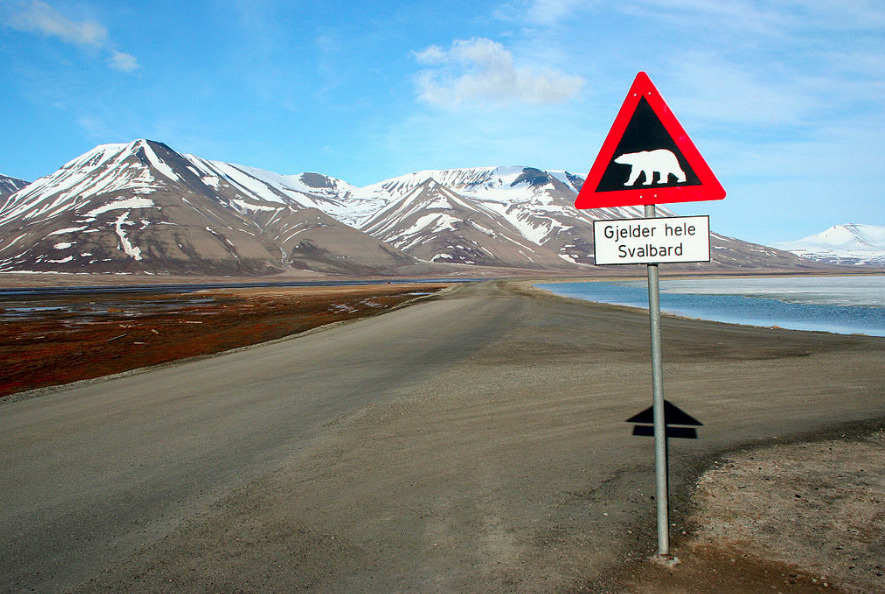 Svalbard, home of a Galileo uplink station. Source